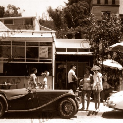 The 'Arab Espresso', Lorne, Victoria.1956 cars fashion
