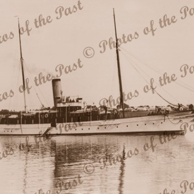 Dutton's (of Kapunda SA) steam yacht ADELE at Pt Adelaide South Australia