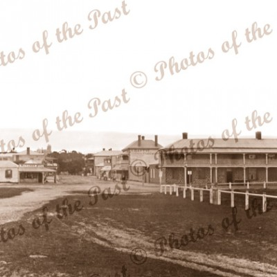View to Crown Hotel & Battye's General Store, Victor Harbor, South Australia, 1907