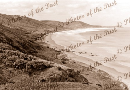 Eastern View to Aireys Inlet, Vic.Victoria. Great Ocean Road. c1900s.