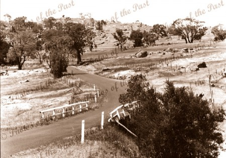 Old coach road bridge, Aireys Inlets, Vic.c1950s. Victoria. Great Ocean Road