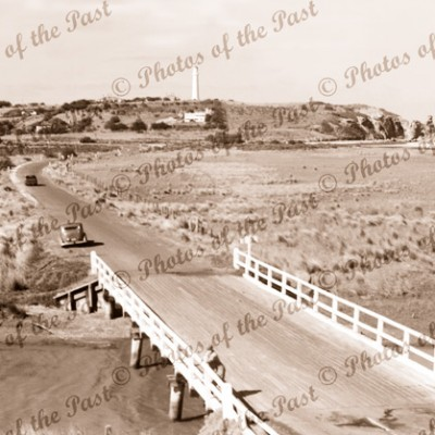 Bridge over Painkalac Creek, Aireys Inlet. c1950s. Victoria. Great Ocean Road.
