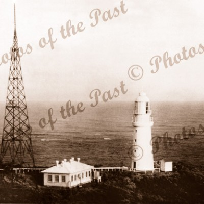 The lighthouse, Cape Otway, near Apollo Bay, Vic. Vic Railways photo Vicoria. Great Ocean Road. c1930s