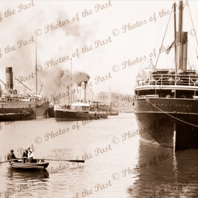 Shipping on the Yarra, Melbourne, Vic. SS OONAH, SS COOGEE c1920s Victoria