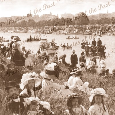 Henley on the Yarra, Melbourne, Vic.1910. Victoria. Children. Boating