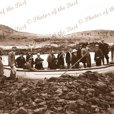 Marine Board ashore from SS GOVERNOR MUSGRAVE, Cape Jervis, SA. c1880s. South Australia. Shipping