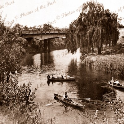 River Torrens, Adelaide, SA. c1926, row boats. South Australia