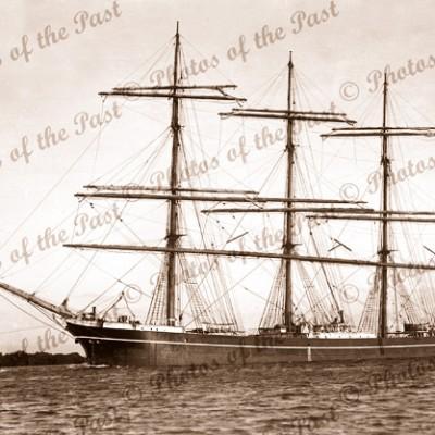 4 masted barque GARTHPOOL, Port Adelaide, SA c1920s. South Australia. Shipping.