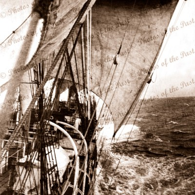 4m barque MOSHULU running towards Cape Horn, shipping. 1936