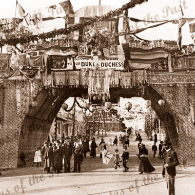 Chinese Arch, Ballarat, Vic. Duke of York visit. 1901. Victoria