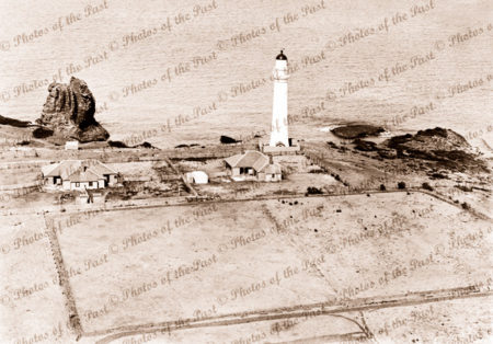 Aerial view Split Point lighthouse at Aireys Inlet, Vic.c 1937. Victoria
