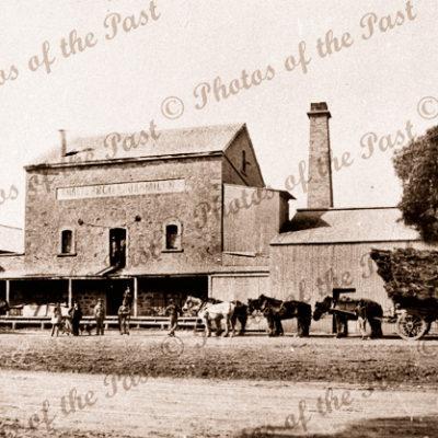 Laura Milling Company Mill, Laura, SA. South Australia. 1920s. horse and cart