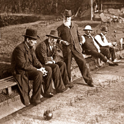Group of old Bowlers, 1890s