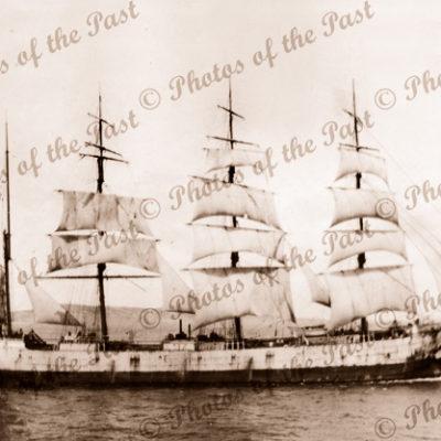 4m barque POMMERN under sail in Spencer Gulf, SA. c1937. South Australia