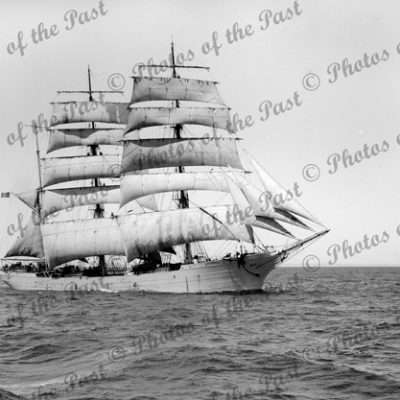 3M Barque VINCENNES. Built 1900. Shipping