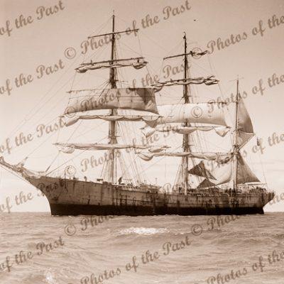 3M Barque GENERAL de SONIS under sail. Built 1901. Shipping