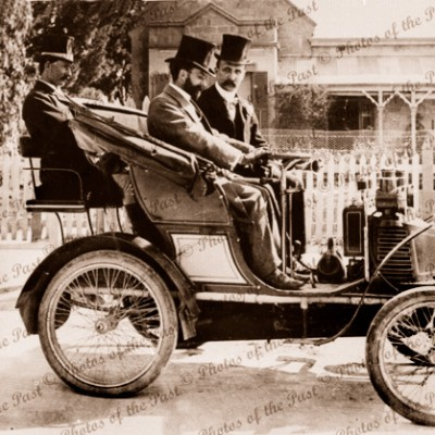 "First car in Mitcham. ""New Orleans"" 1901 South Australia"