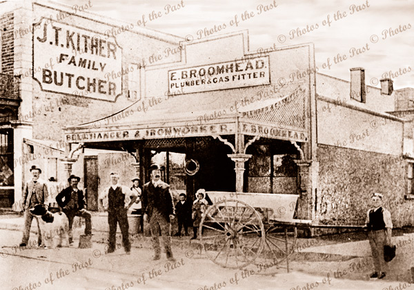 E. Broomhead, bell hanger, plumber & gas fitter, Jetty Rd.,Glenelg, South Australia, 1890