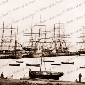 Sailing ships at Geelong Vic. Victoria c1860s