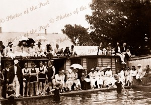 A Grand stand view. Lorne Swimming Pool 1919 Victoria