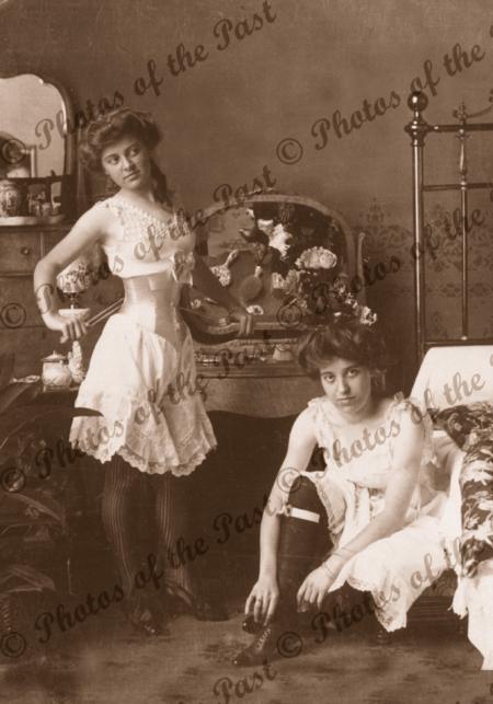 women underwear corsets bedroom c 1900