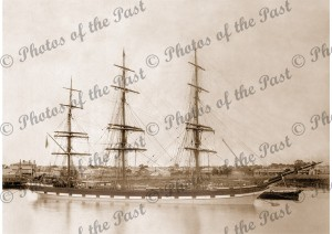 3m ship EARNOCK moored Port Adelaide, South Australia c1890s