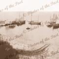 Ketches Pine Point SA Ketches L to R, SURPRISE, MALCOLM, ANNIE WATT, AMPHIBIOUS, FLORENCE MAUD South Australia, shipping 1917