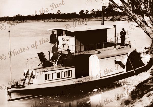 PS ETONA, Church of England mission boat. Paddle steamer c1900