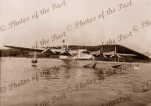 Ansett's Sunderland Flying boat, Lord Howe Island c1954