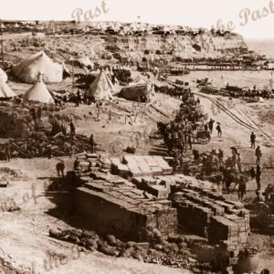 'W' Beach at Gallipoli WW1 (Cape Helles in distance) c1915