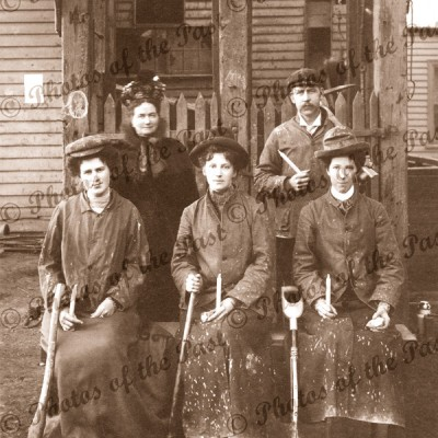 Women miners at Ballarat Vic c1900