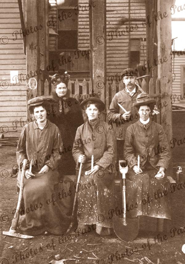 Women miners at Ballarat Vic c1900