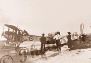 Fairey III D seaplane on beach near Ceduna SA South Auatralia c1920s