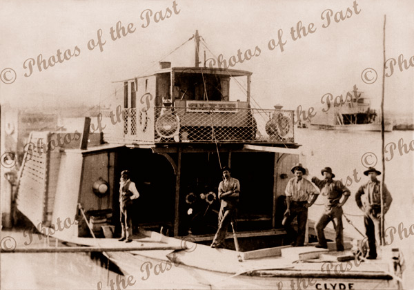 PS CLYDE c1905 paddle steamer