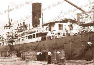 Unloading 'Chase' tractors from SS PORT AUCKLAND. May 1923