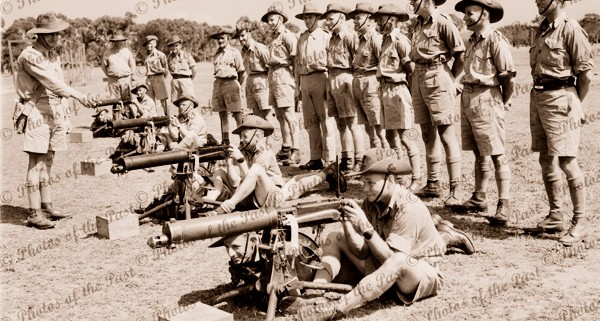 Army - machine gun practice. c1940s. SA. South Australia