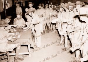 Army pay day, 1940, SA South Australia