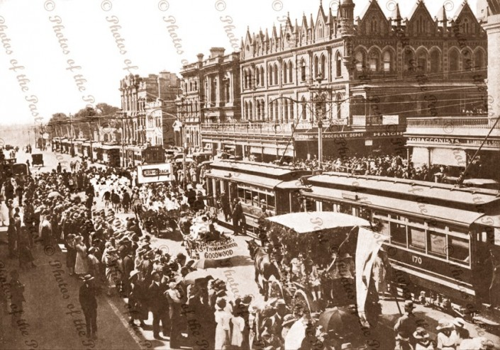 St.Patrick's Day parade, King William St. Adelaide, South Australia 1923