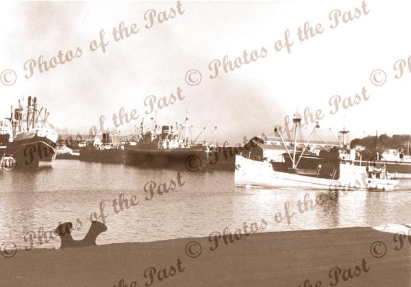 SS KOPOOLA in Port River, Port Adelaide, SA c1950s, South Australia, shipping