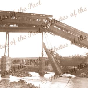 McCallum's Creek Bridge,Vic train crash 19 Aug 1909. Victoria