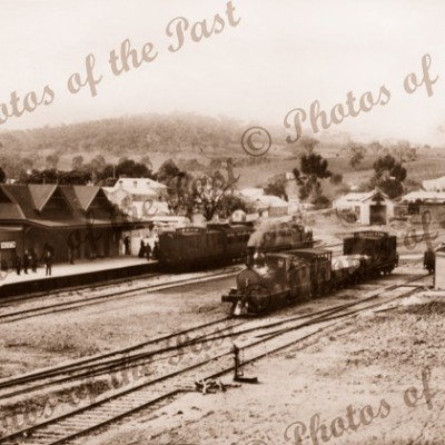 Angaston Rail Stn with steam trains Replaced with J Thompson scan. South Australia c1912