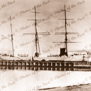 3m Barque INVERLOCHY at unknown pier, built 1895. Shipping