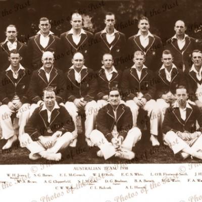 Australian Cricket Team. 1938