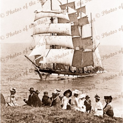 4M Barque FALLS of HALLADALE Wrecked at Peterborough Vic.1908. Ship. Victoria. Great Ocean Road