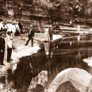 'Sanctuary', Erskine River, Lorne, Vic.Divine Service held in early days. Creat Ocean Road. Victoria. c1900s