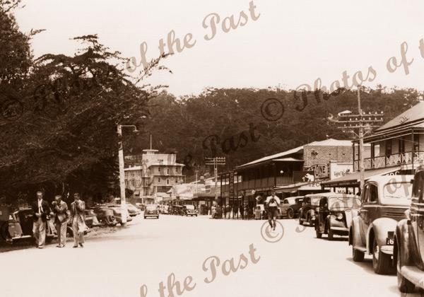 Marine Parade, Lorne, Vic. 3 gentlemen. Victoria, Great Ocean Road. c1950s