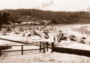 The beach, Lorne, Vic.Victoria. Great Ocean Road 1940s