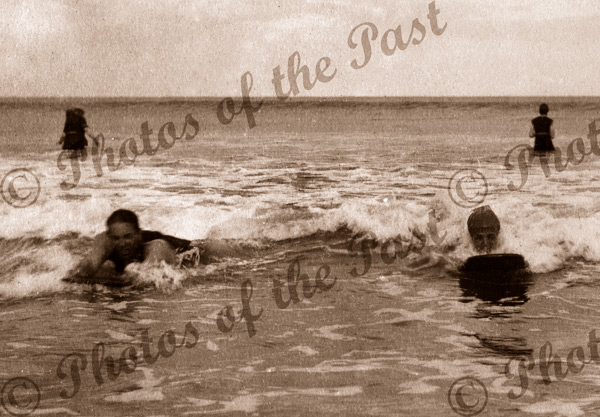 On the surf boards at Lorne Vic. Victoria. Great Ocean Road. 1919