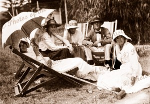 Watching a Croquet Tounament at Lorne, Vic.1919. Victoria. Great Ocean Road, ladies