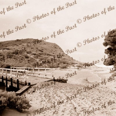 An early view of Moggs Creek, Vic. Victoria. Great Ocean Road c1930s